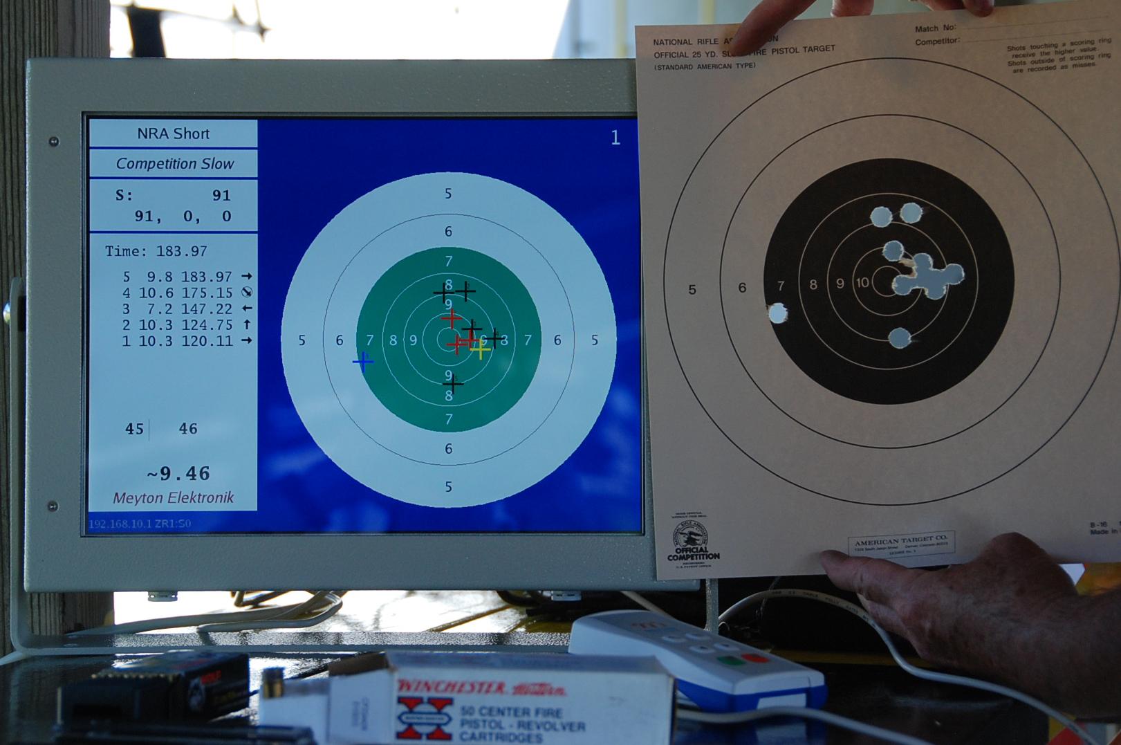 Meyton Electronic Targets For Bullseye Pistol Shooting